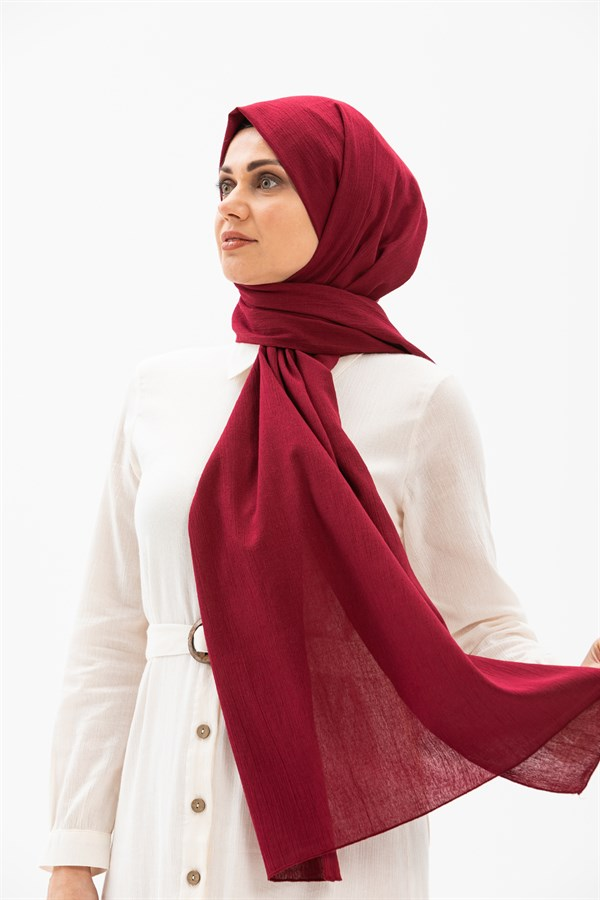 Sile Fabric Shawl Claret Red