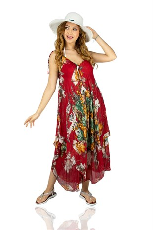 Aphrodite Dress Canvas Pattern Red