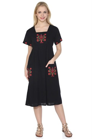 Plus Size Melek Dress Black