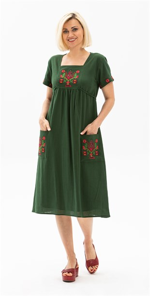 Plus Size Melek Dress Green