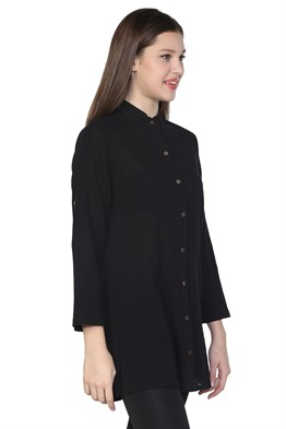 Judge Collar Tunic Black