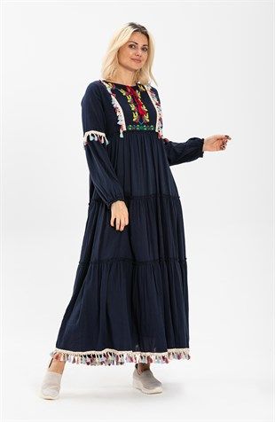 İffet Dress Navy Blue