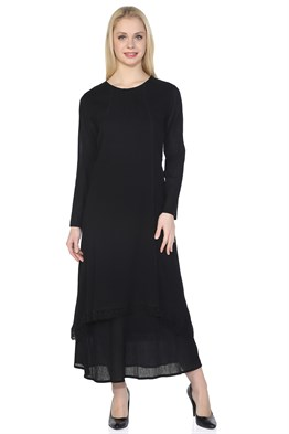 Ribbed Dress Black