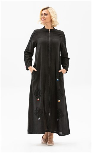Sahara Abaya Smoked Colour