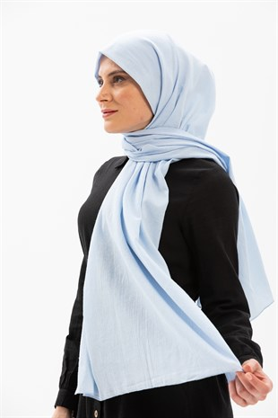 Sile Fabric Shawl Ice Blue