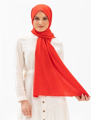 Sile Fabric Shawl Red