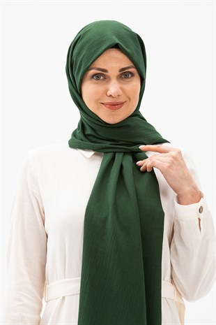 Sile Fabric Shawl Green