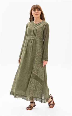 Waterltan Dress Khaki