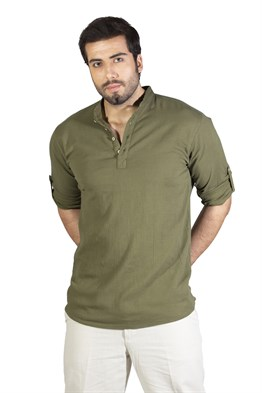 Long Sleeve Bodrum T-Shirt  Khaki