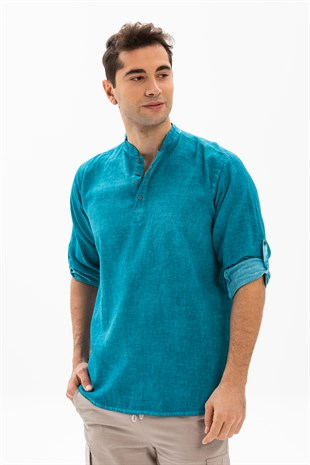 Long Sleeve Bodrum T-Shirt  Turquoise