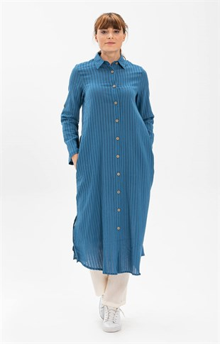 Long Tunic Jeans Blue Collar
